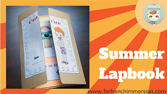 french summer lapbook for french immersion. Black Bedroom Furniture Sets. Home Design Ideas