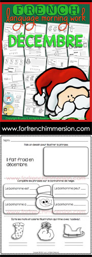 French Morning Work - For French Immersion
